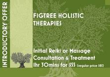 Introductory Offer: Reiki or Therapeutic Massage 1.5hrs Consultation and Treatment for $55 (regular price $85) Figtree Therapeutic 4